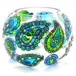 Hand Painted Glass Bowl, B..