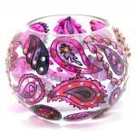 Hand Painted Glass Bowl, Li..