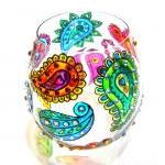 Hand Painted Glass Candle H..