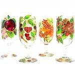 Hand Painted Glass, Summer,..
